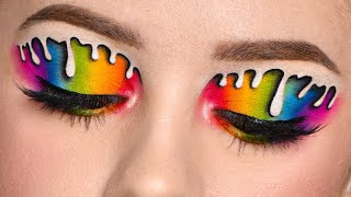 INSTAGRAM Makeup - DRIPPING RAINBOW Eye Makeup Recreation