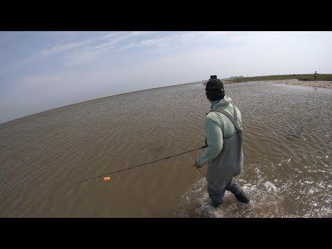 Wade Fishing West Bay, Galveston TX