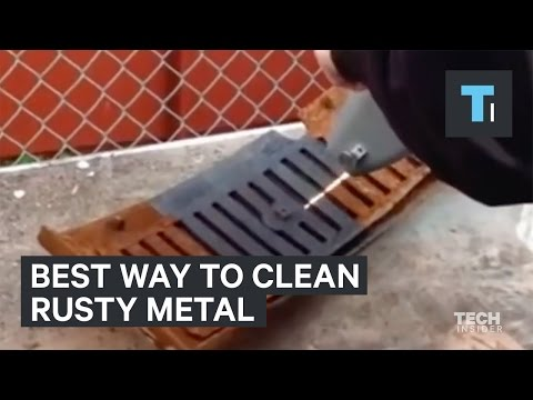 The best way to clean rusty metal