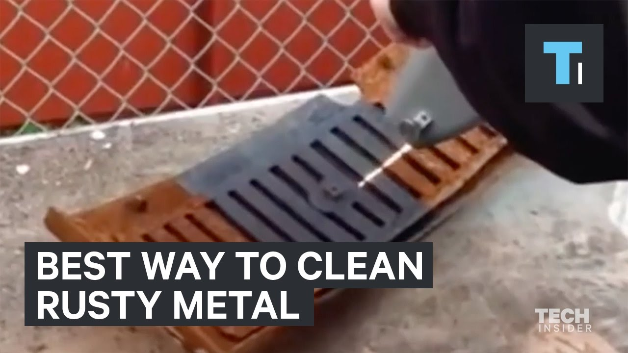 The Best Way To Clean Rusty Metal Youtube