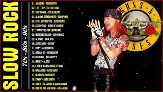 Download 💯 Best Slow Rock Ballads 80s, 90s 💯 Scorpions, Aerosmith, Bon Jovi, U2, Nirvana