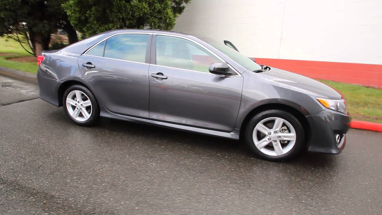 2013 Toyota Camry Se Magnetic Gray Metallic Du271522