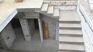 видео Монолитная бетонная лестница в частном доме своими руками
