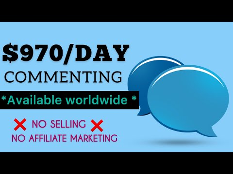 Earn $970/Day Commenting NO SELLING! (FREE) | Make Money Online | How To Make Money Online