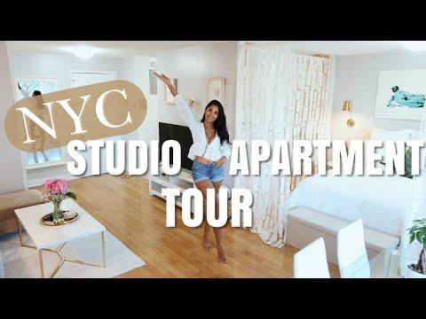 NYC STUDIO APARTMENT TOUR | Nathalie Muñoz