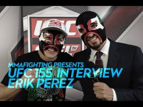 UFC 155: Erik Perez Feels Like a 'Superhero' With Mask