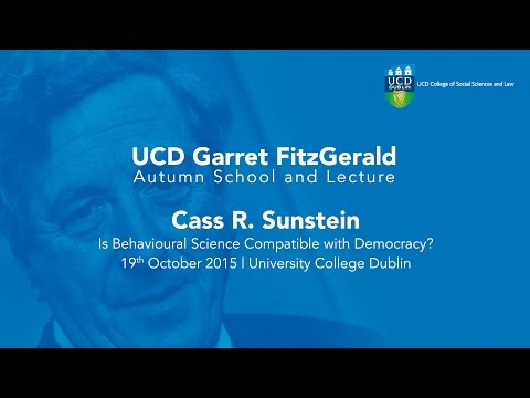 Is Behavioural Science Compatible With Democracy? Cass R. Sunstein