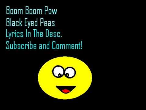 Boom Boom Pow - Black Eyed Peas Lyrics