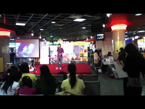 Chinese people doing karaoke at Crystal Mall