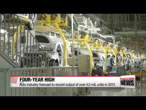 Korea′s automobile industry forecast to record highest production output