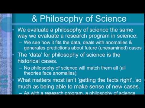 Post-Kuhnian Philosophy of Science: Imre Lakatos (3 of 3)