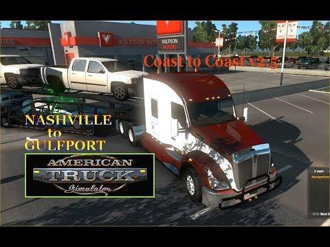 American Truck Simulator - Nashville Tenn., - Gulfport, MS.