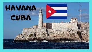 CUBA: Historic SPANISH FORT (DEL MORRO) protecting HAVANA'S HARBOR (built 1590s)