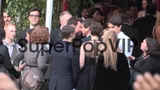 Anne Hathaway and Hugh Jackman arrive at SAG Awards at Ce...