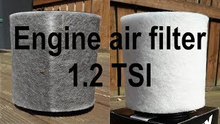How to change engine air filter 1.2 TSI