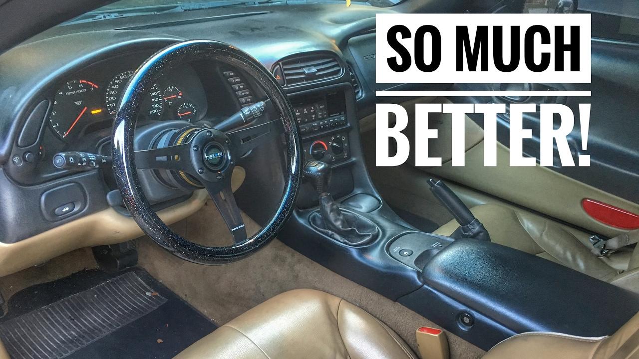 C5 Corvette Nrg Steering Wheel Install Youtube