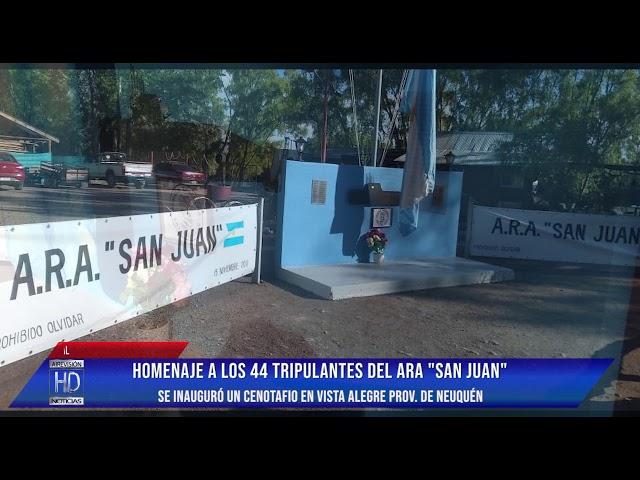 Se inauguró un cenotafio en Vista Alegre prov  de Neuquén