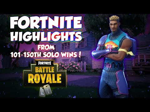 Fortnite Highlights - From 101st-150th Solo Wins! | OCEANIA
