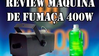 review maquina de fumaa b 400 400 watts com teste