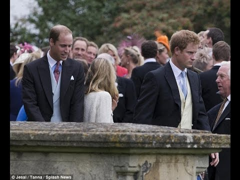 Prince William and Harry team up with old pals Skippy and Guy Pelly for family wedding