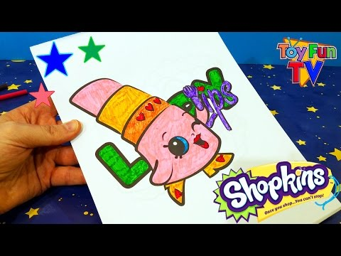 SHOPKINS COLOURING BOOK Color In Lippy Lips Childrens Drawing
