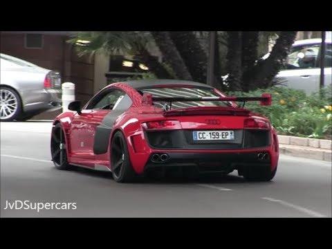 Audi R8 Invasion In Monaco! Accelerations, Revs & Loud Sounds!