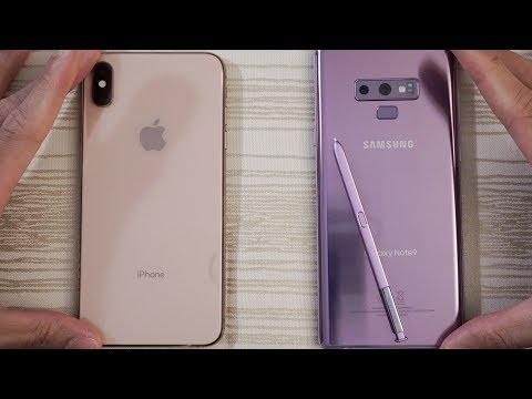 iPhone XS Max vs Samsung Note 9 - Speed Test! Can the Knight Eat an Apple?