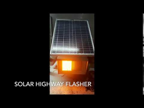 SOLAR HIGHWAY FLASHER