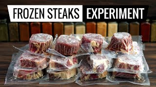 Frozen Steaks Experiment - What
