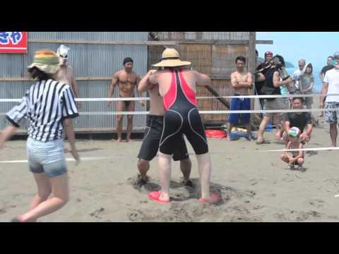 信州プロレス「谷浜海水浴場マッチ」第2試合