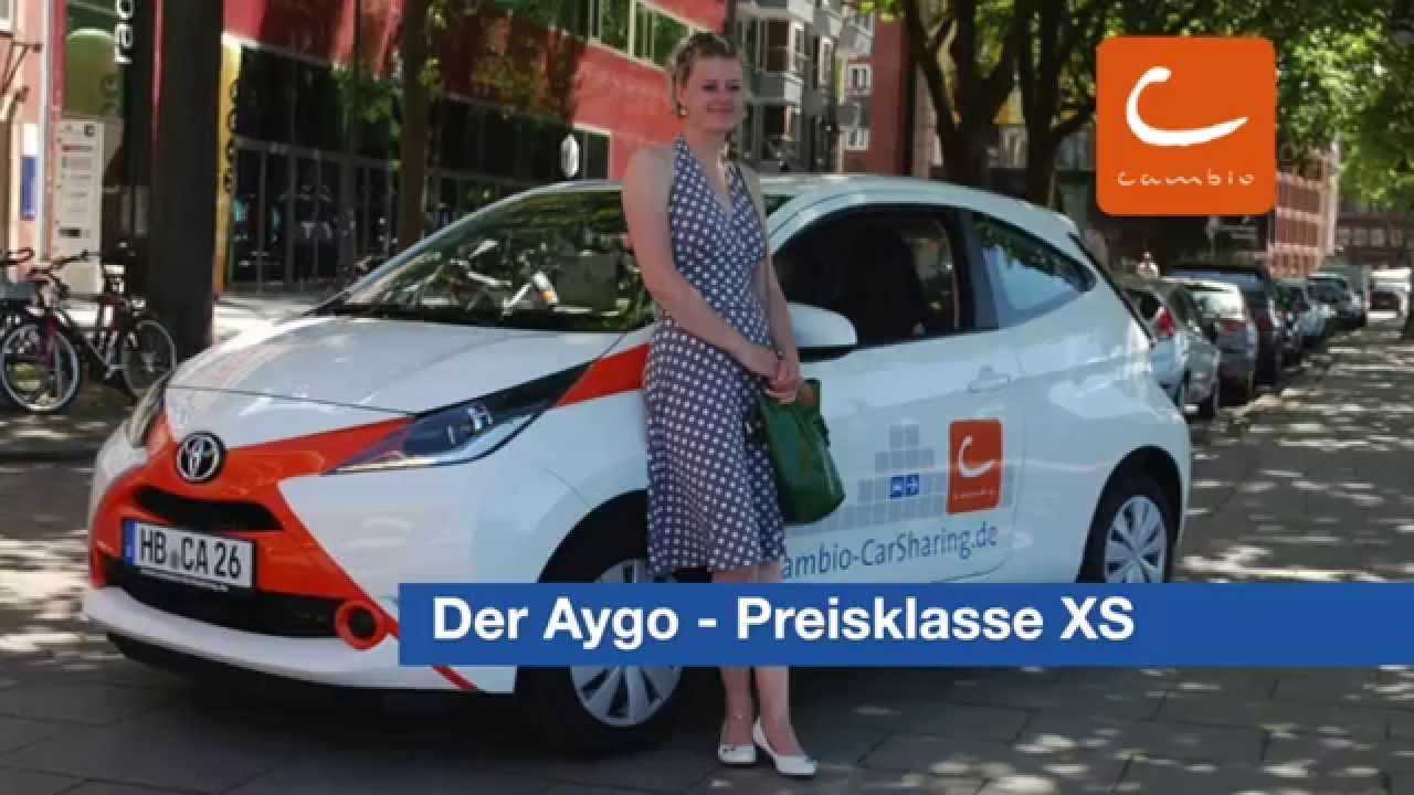 cambio carsharing preisklasse xs der toyota aygo youtube. Black Bedroom Furniture Sets. Home Design Ideas