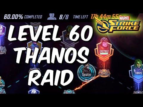 Level 60 Thanos Raid - Marvel Strike Force - Patch 1.1 Infinity War