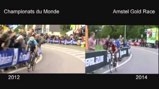 Philippe Gilbert Championnats du Monde 2012 vs Amstel Gold Race 2014