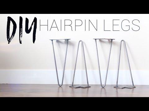 DIY Hairpin Legs | Bending Metal Rod Without Heat