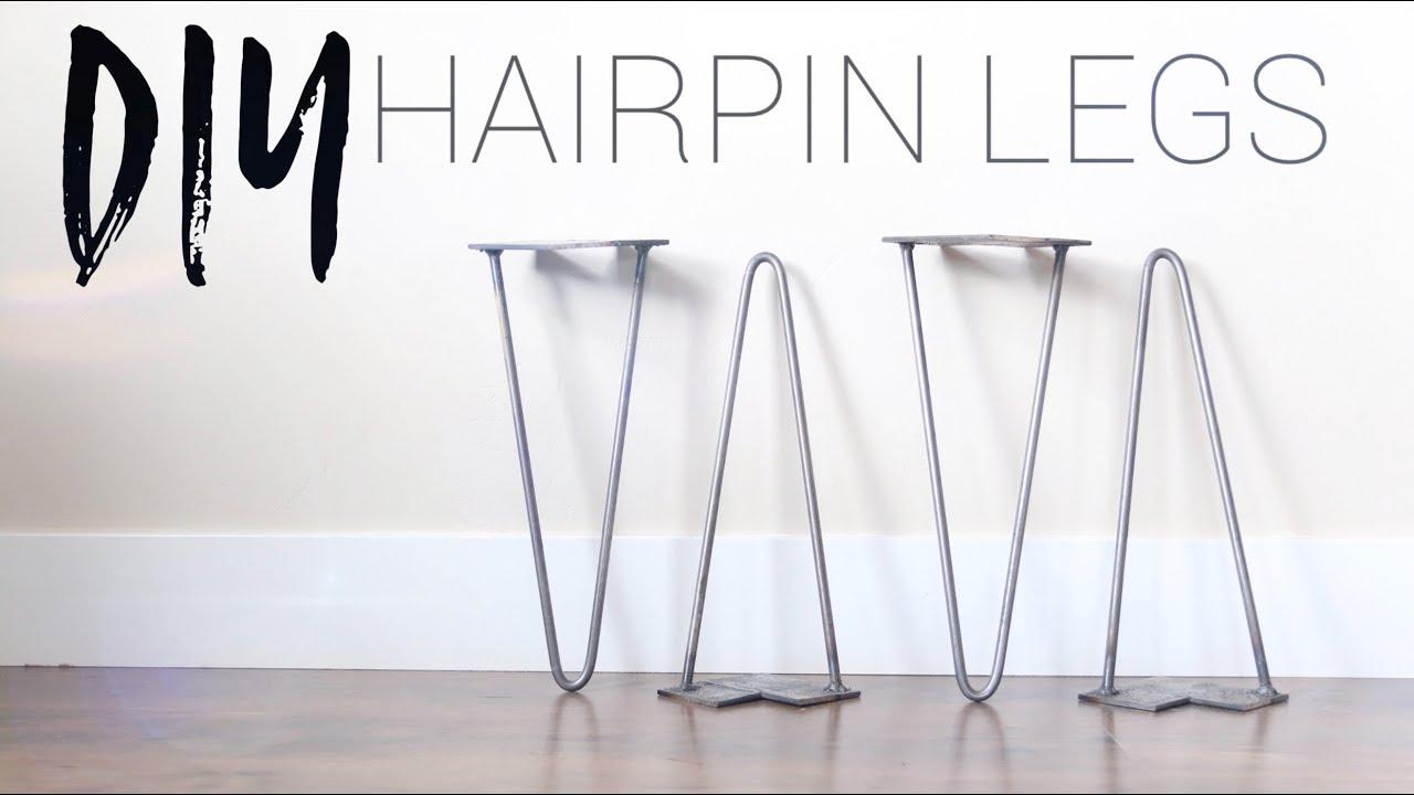 Diy Hairpin Legs Bending Metal Rod Without Heat Youtube