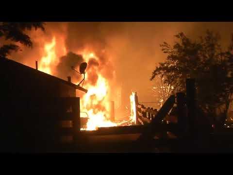 Raw Video: Santa Rosa Fire