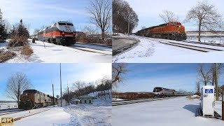 ⁴ᴷ Fast Trains & Fast Freights Along The Hudson
