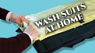 How to Wash Men's Suits at Home