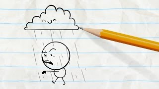 partly cloudy with a chance of pain pencilmation cartoons