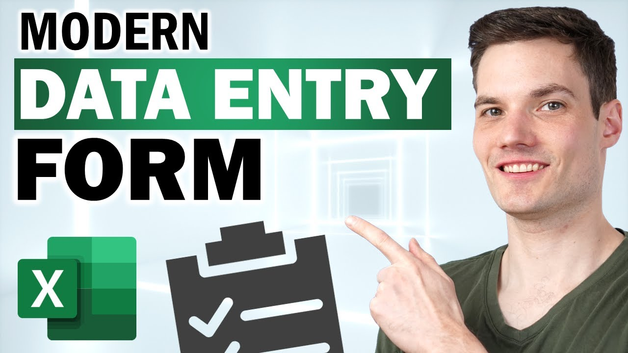 How to Create Modern Excel Data Entry Form – EASY & NO VBA