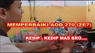 MEMPERBAIKI NOTEBOOK ACER D270 KEDIP   KEDIP