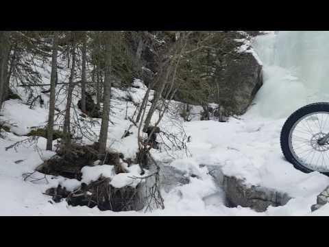 Jewell pass falls frozen over.