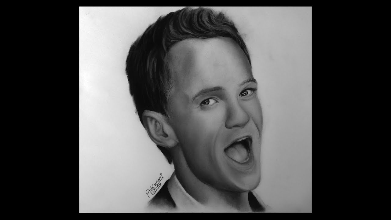 Portrait Drawing Of Neil Patrick Harris Barney Stinson Youtube