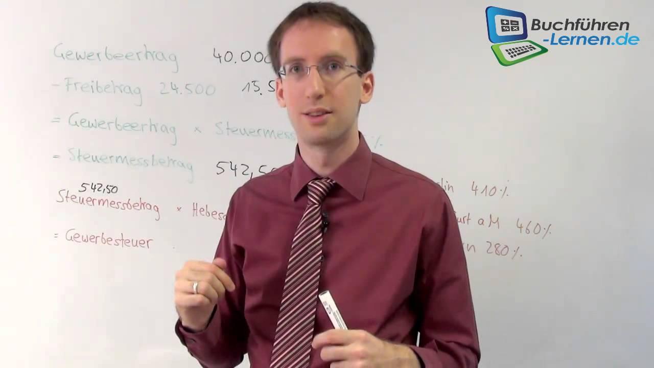 Berechnungermittlung Der Gewerbesteuer Mit Beispiel Youtube