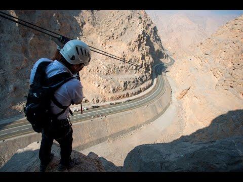 UAE's first and largest zipline, Via Ferrata Climbing Adventure by RAKTDA