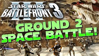 Star Wars: Battlefront 3 mod: GROUND TO SPACE Battle - 60 FPS