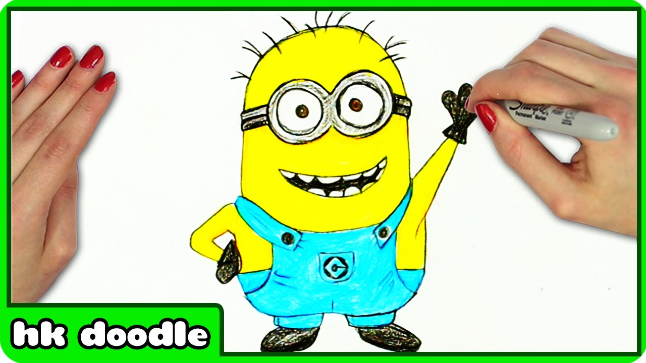 Show me how to draw a minion - How To Draw A Minion Despicable Me By Hooplakidz Doodle Drawing Tutorial Youtube