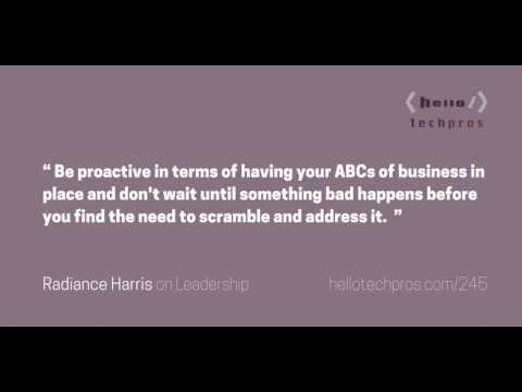245: Legal 101 For Your Tech Startup — Radiance Harris on Leadership