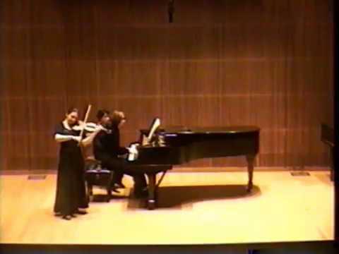 Anita Mishoukova Recitals in 1996, , part 1 (Tartini, Brahms)