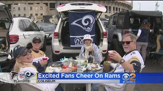 Rams Fans Excited For First LA Playoff Game In 39 Years